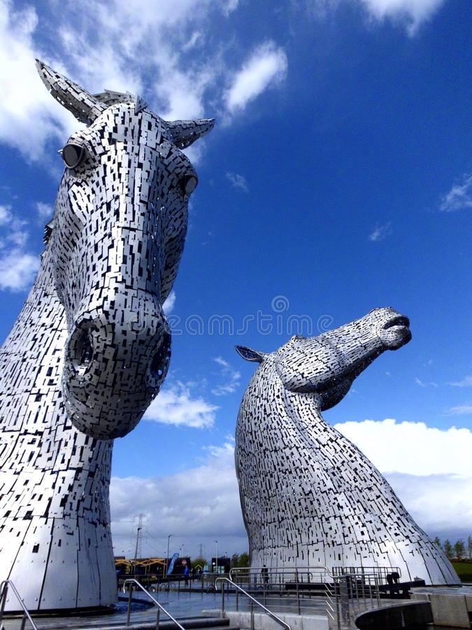 Kelpies fotografia stock