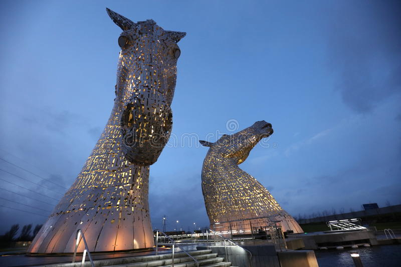 Kelpies Falkirk obraz stock