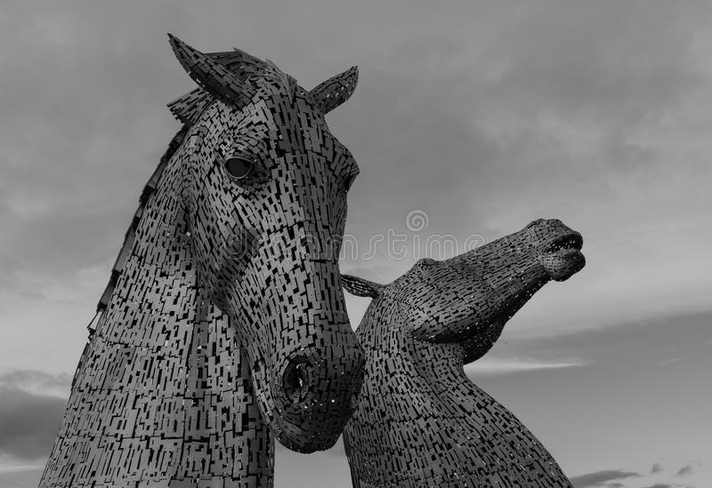Kelpiesna Falkirk Skottland royaltyfri foto