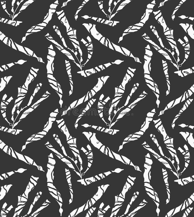Kelpmeerespflanzenschwimmen gemasert auf Schwarzem stock abbildung