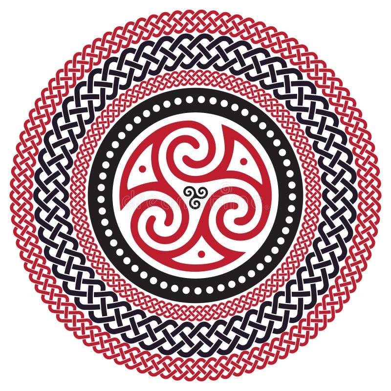 Keltisch gevlecht patroon, mandala vector illustratie