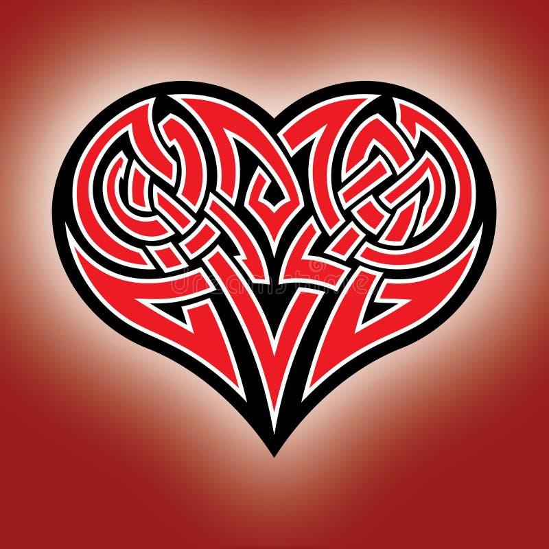 Keltisch hart royalty-vrije illustratie