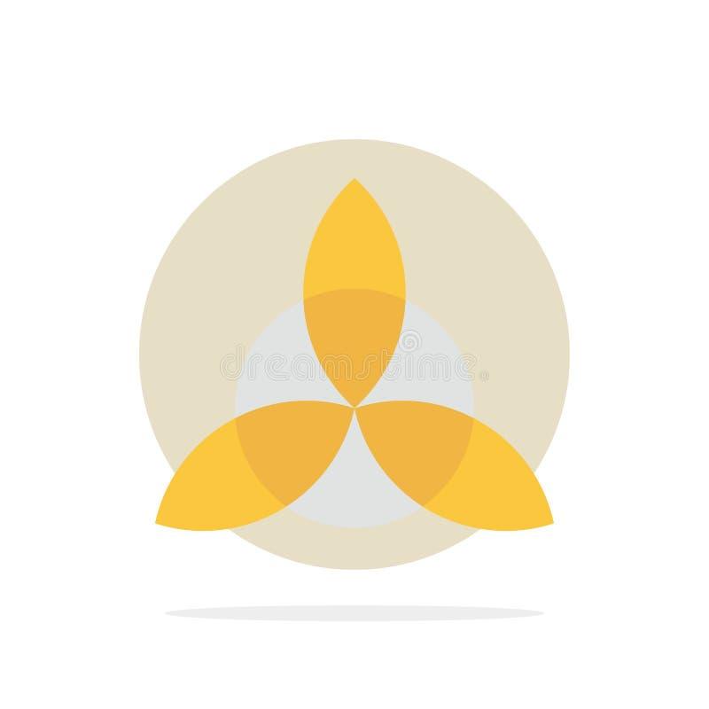 Keltisch, Irland, flache Ikone Farbe des Blumen-Zusammenfassungs-Kreis-Hintergrundes vektor abbildung