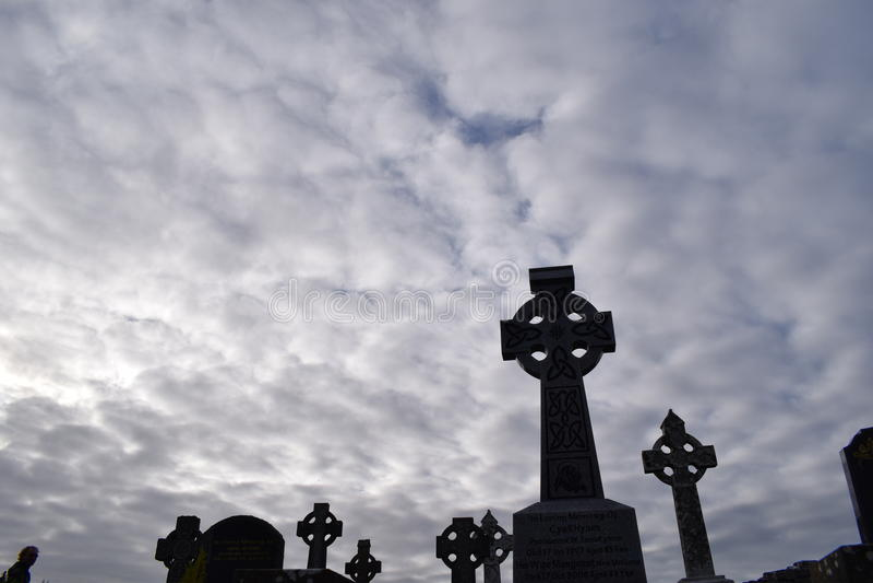Keltisch kerkhof stock foto