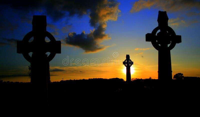 Keltisch Kruis drie stock foto's
