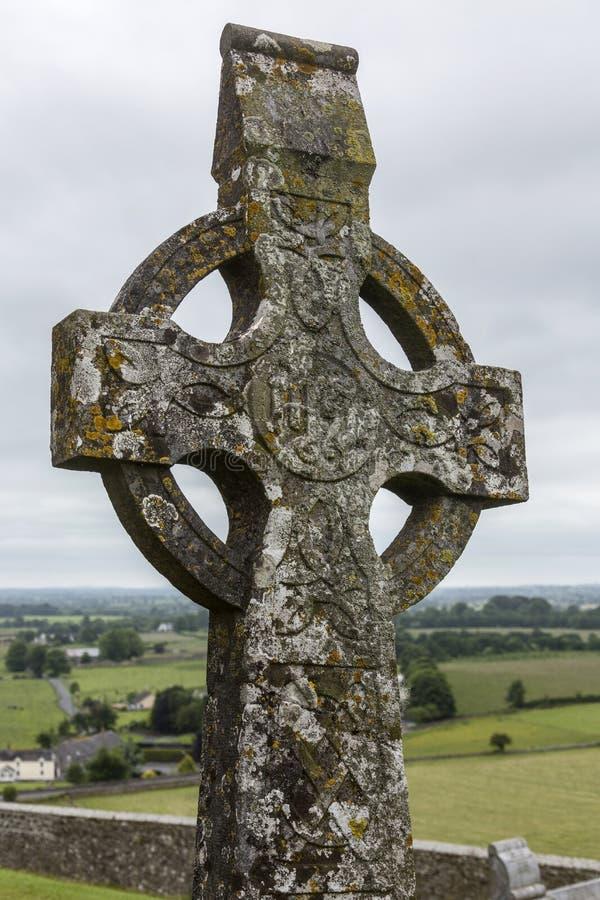 Keltisch Kruis - Rots van Cashel - Ierland stock fotografie