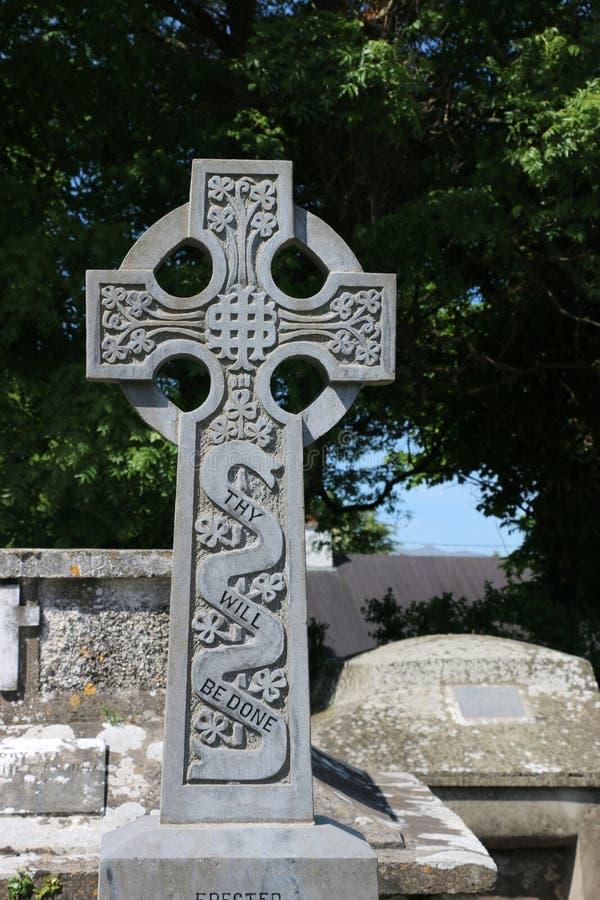 Keltisch Kruis, zullen zij worden gedaan, Ierland stock afbeelding