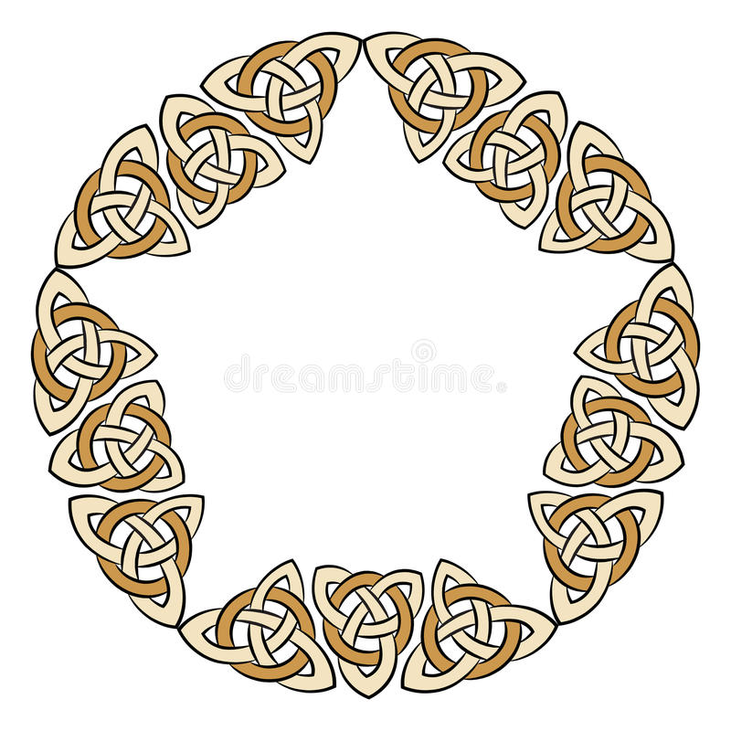 Keltisch oud patroon stock illustratie