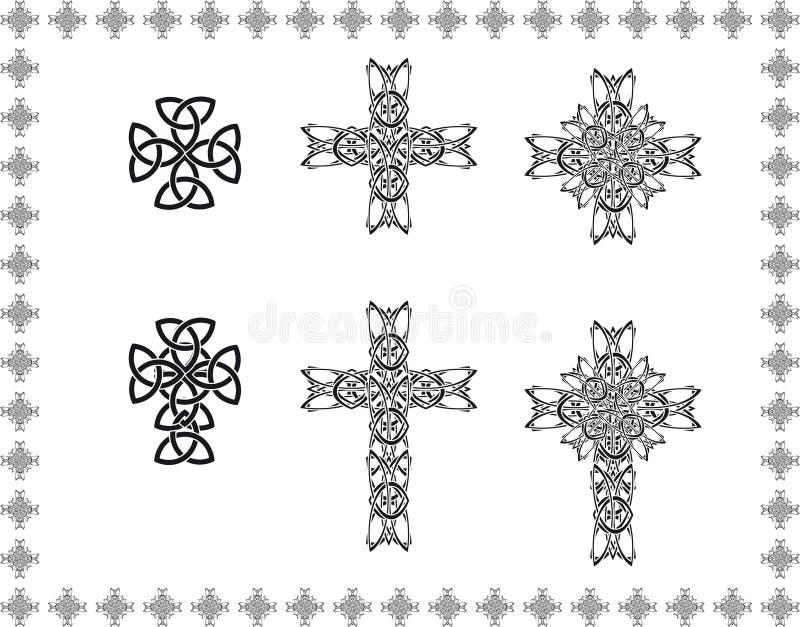 Keltisch stylizationkruis stock illustratie