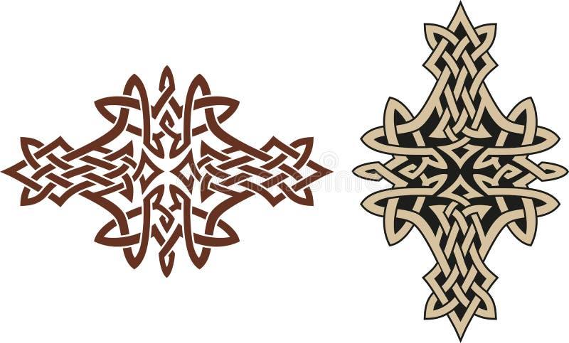 Keltisch tatoegeringsontwerp stock illustratie