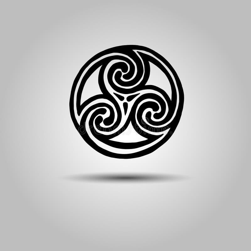 Keltisch van het het symboolelement van het tekenontwerp abstract de knooppictogram tatt vector illustratie