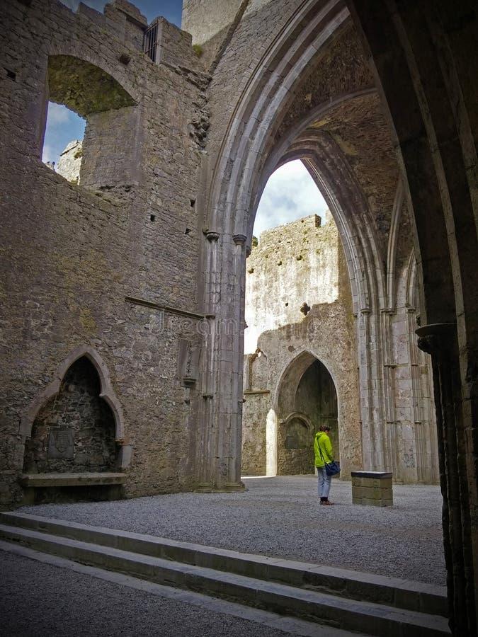 Keltische architectuur van de Rots van Cashel, Ierland royalty-vrije stock foto