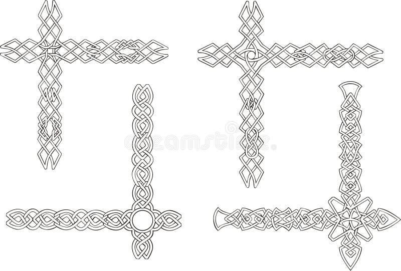 Keltische dekorative Knotenecken stock abbildung