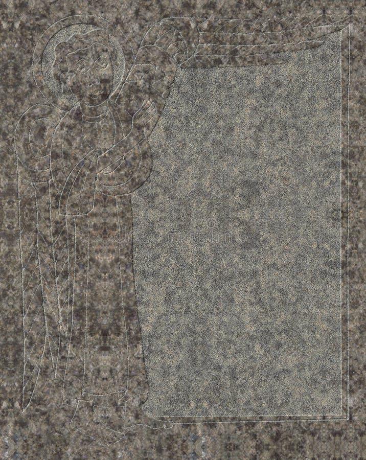 Keltische die hulp met evangelist in graniet wordt gebeiteld royalty-vrije stock afbeeldingen