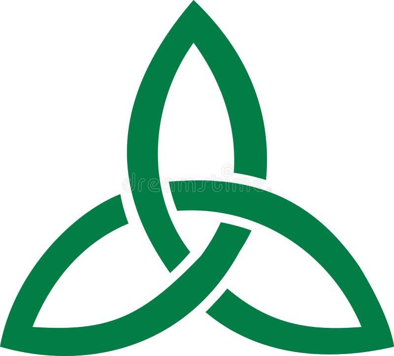 Keltische drievoudige knooptriquetras stock illustratie