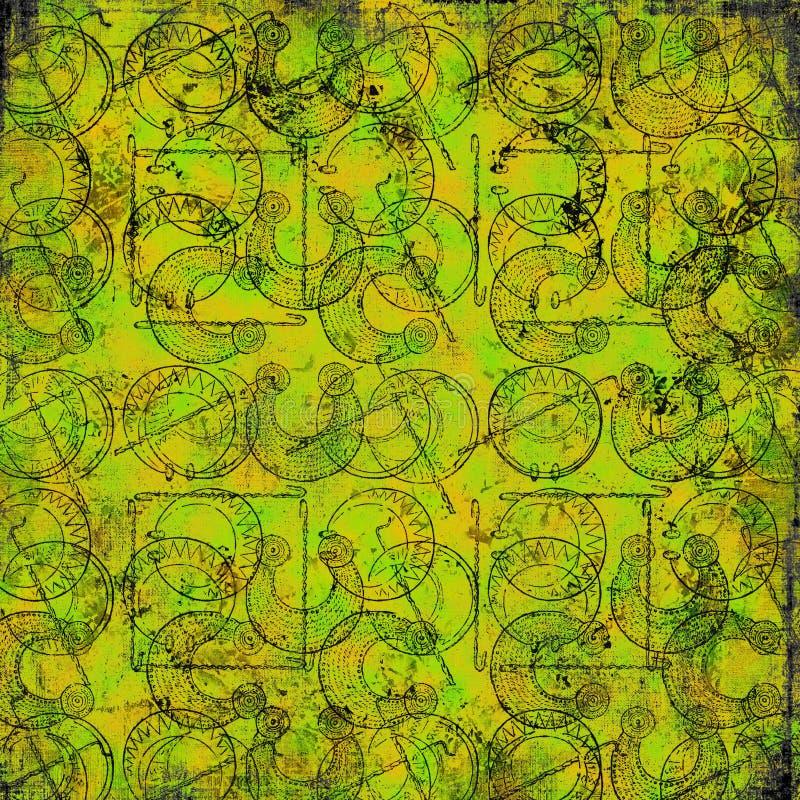 Keltische druïdehulpmiddelen - Grungy achtergrond vector illustratie