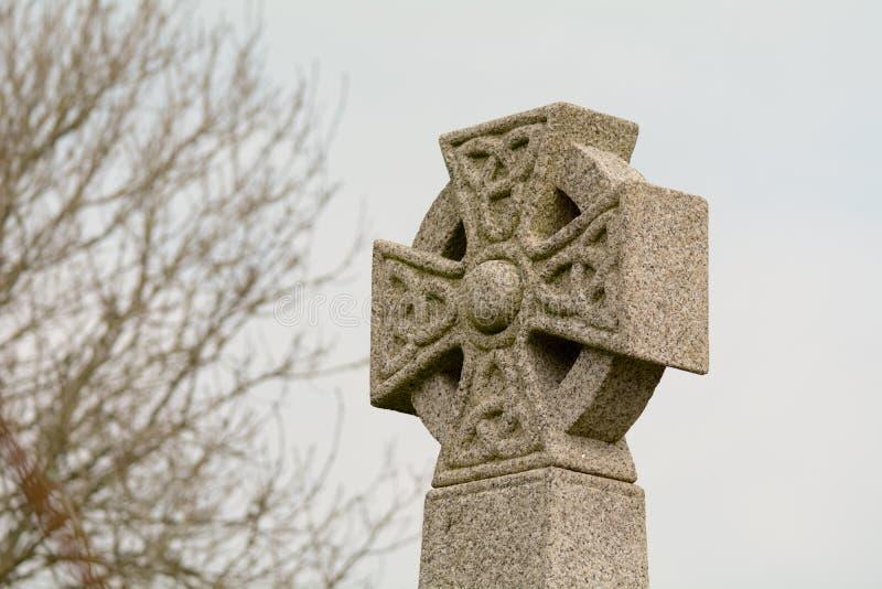 Keltische dwarsgrafzerk stock afbeelding