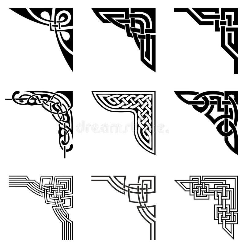 Keltische geplaatste hoeken vector illustratie