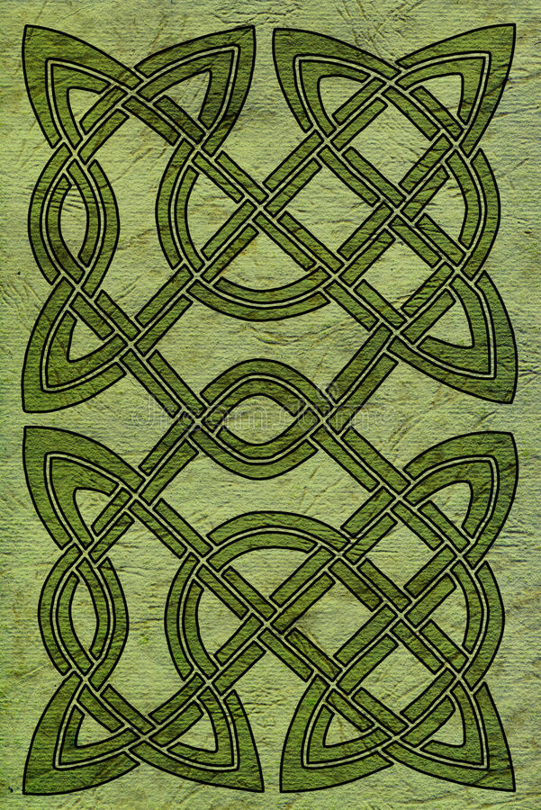Keltische Karte oder Bucheinband lizenzfreie abbildung