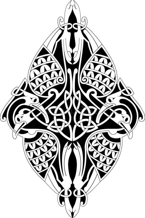 Keltische knoop stock illustratie