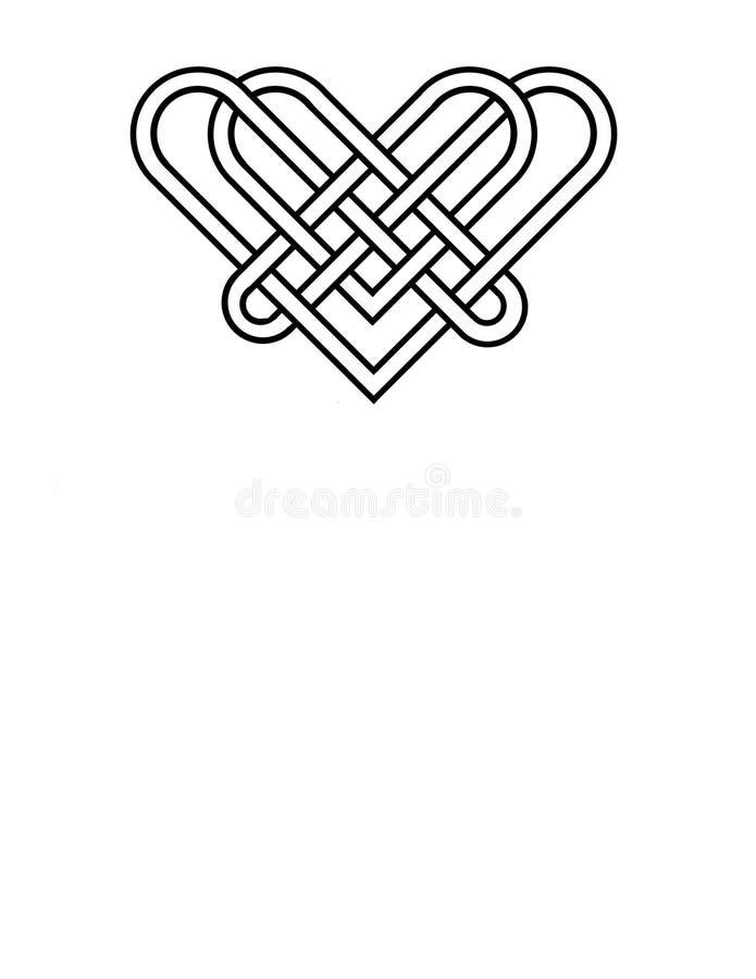 Keltische knoop die een thema van de hartvorm gebruiken royalty-vrije stock afbeelding