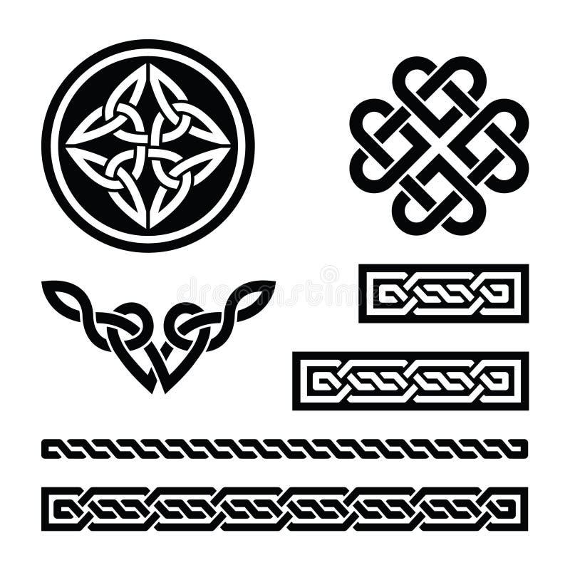 Keltische knopen, vlechten en patronen -   vector illustratie