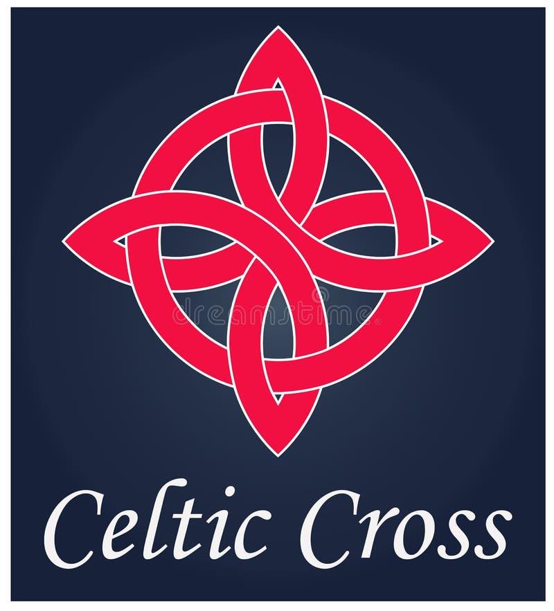 Keltische Kruis, godsdienst en meer royalty-vrije illustratie