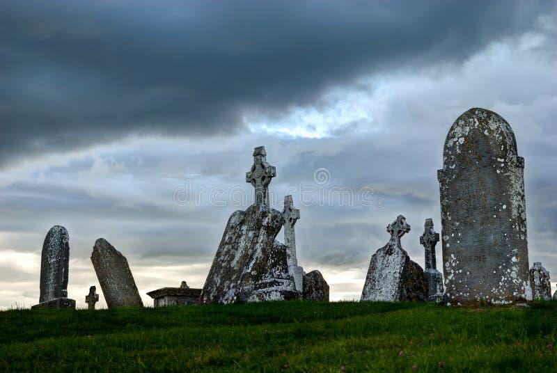 Keltische kruisen bij kerkhof royalty-vrije stock foto