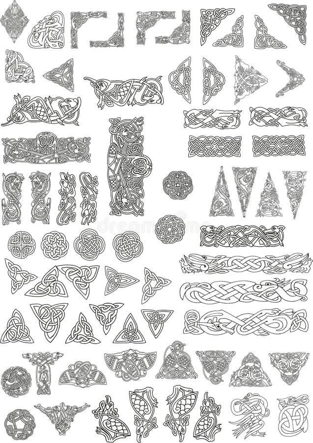 Keltische motieven royalty-vrije illustratie
