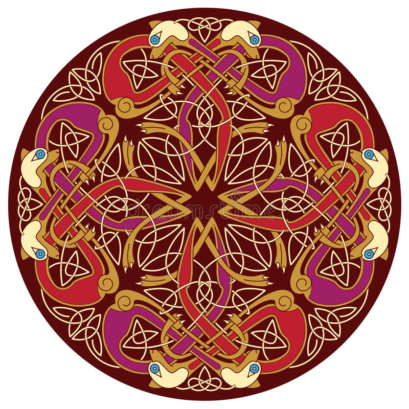 Keltische Motive lizenzfreie abbildung