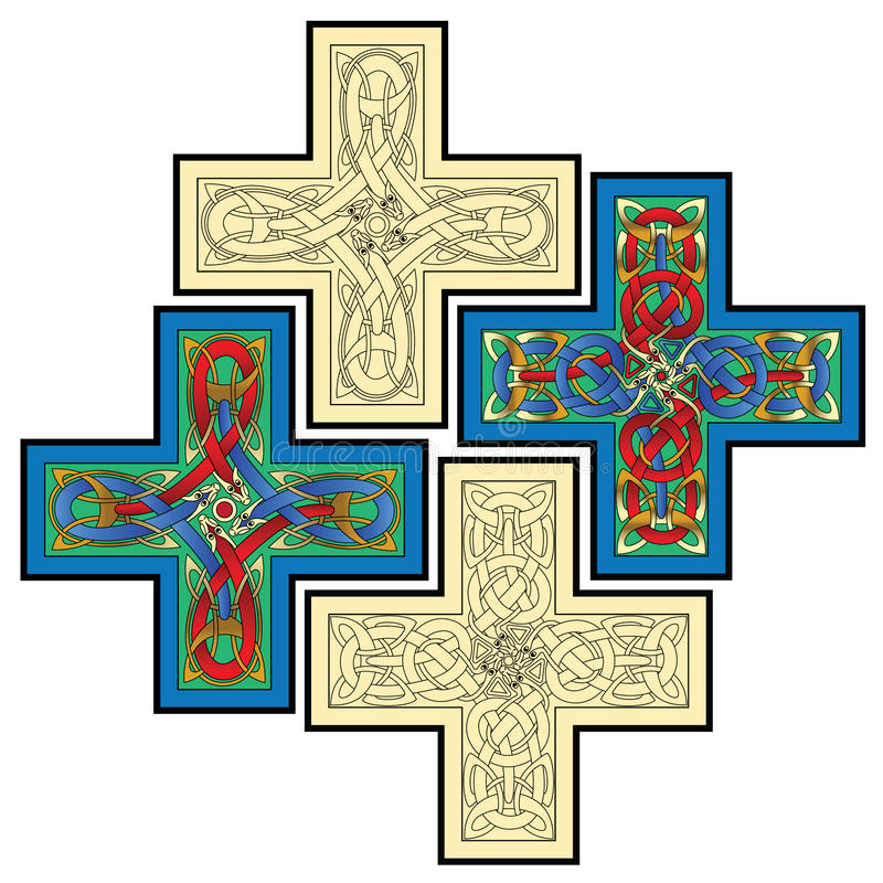 Keltische Motive stock abbildung