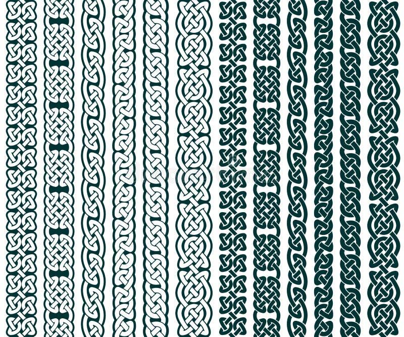 Keltische Patroneninzameling vector illustratie