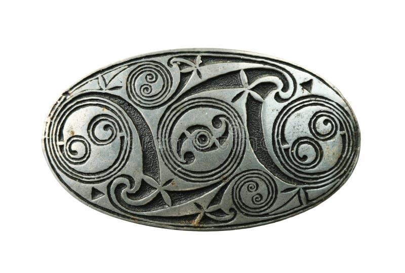 Keltische schildbroche royalty-vrije stock foto