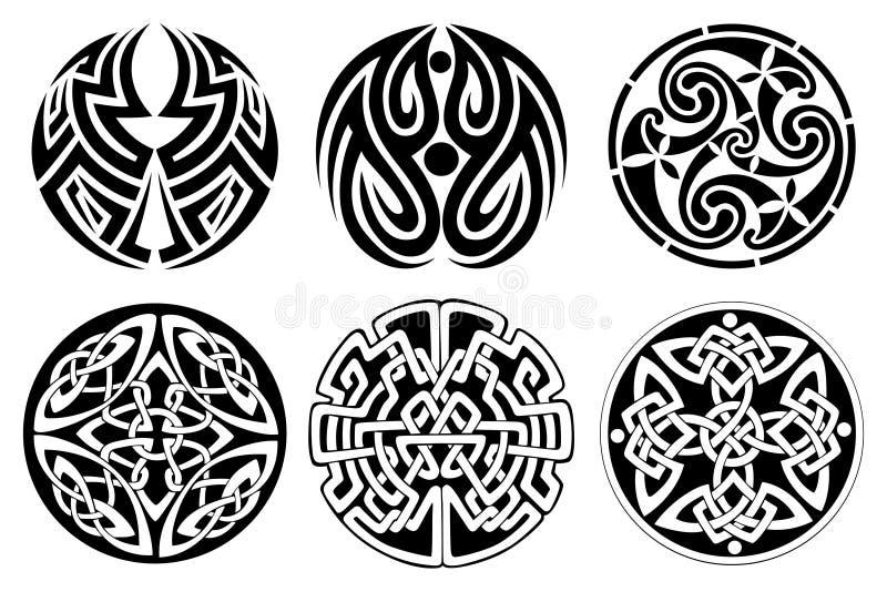 Keltische Verzierung stock abbildung