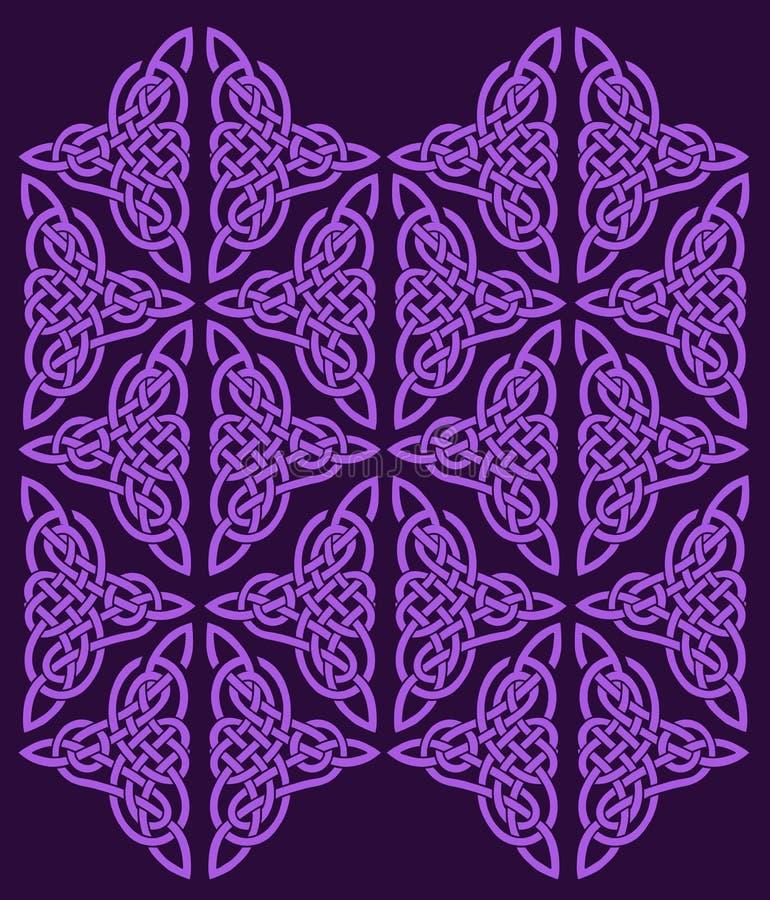 Keltische Verzierung der Blumen vektor abbildung