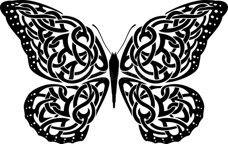 Keltische Vlinder vector illustratie