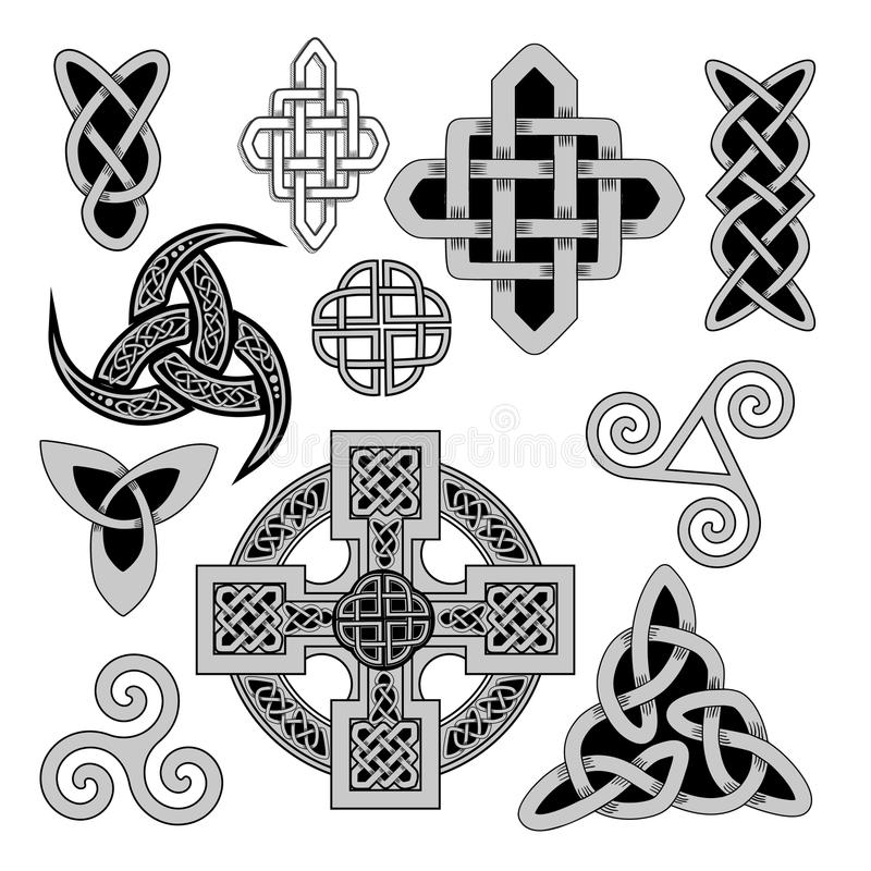 Keltische Volksverzierung stock abbildung
