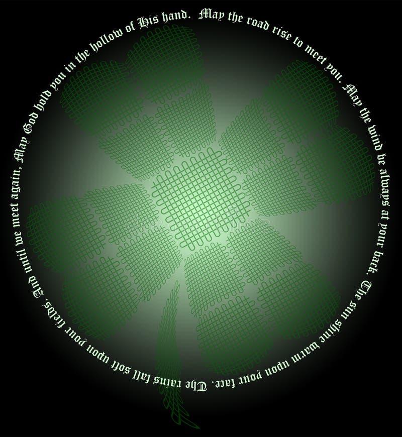Keltischer Knoten-Shamrock lizenzfreie abbildung