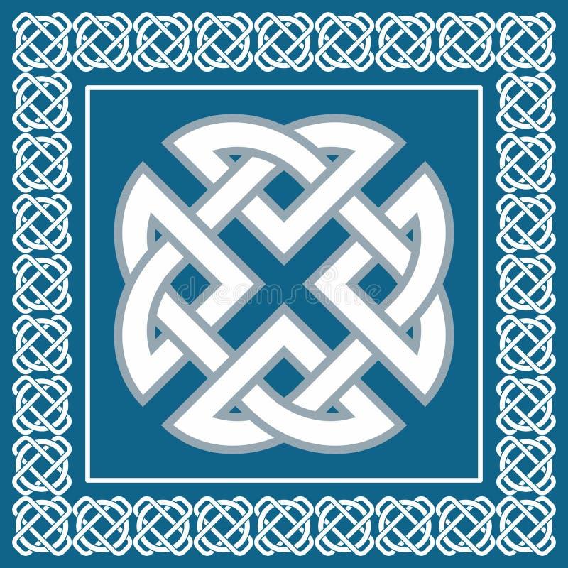 Keltischer Knoten, Symbol stellt vier Weltelemente, Vektor dar lizenzfreie abbildung