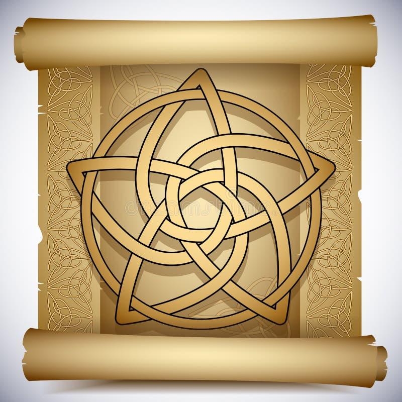 Keltischer Pentacle vektor abbildung