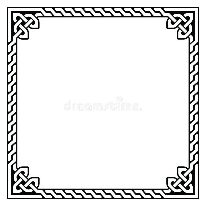 Keltischer Rahmen, Grenzmuster - lizenzfreie abbildung