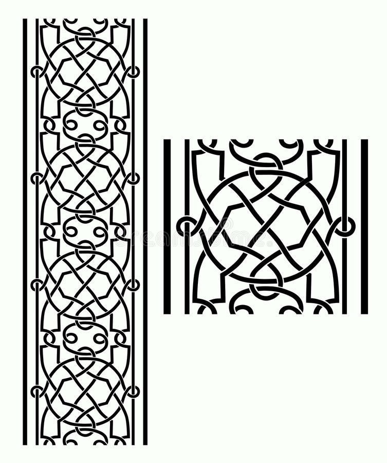 Keltischer Rand stock abbildung