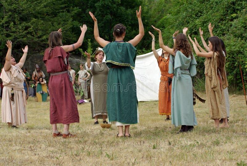 Keltischer Ritus stockbilder
