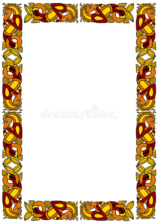 Keltisches dekoratives Feld vektor abbildung