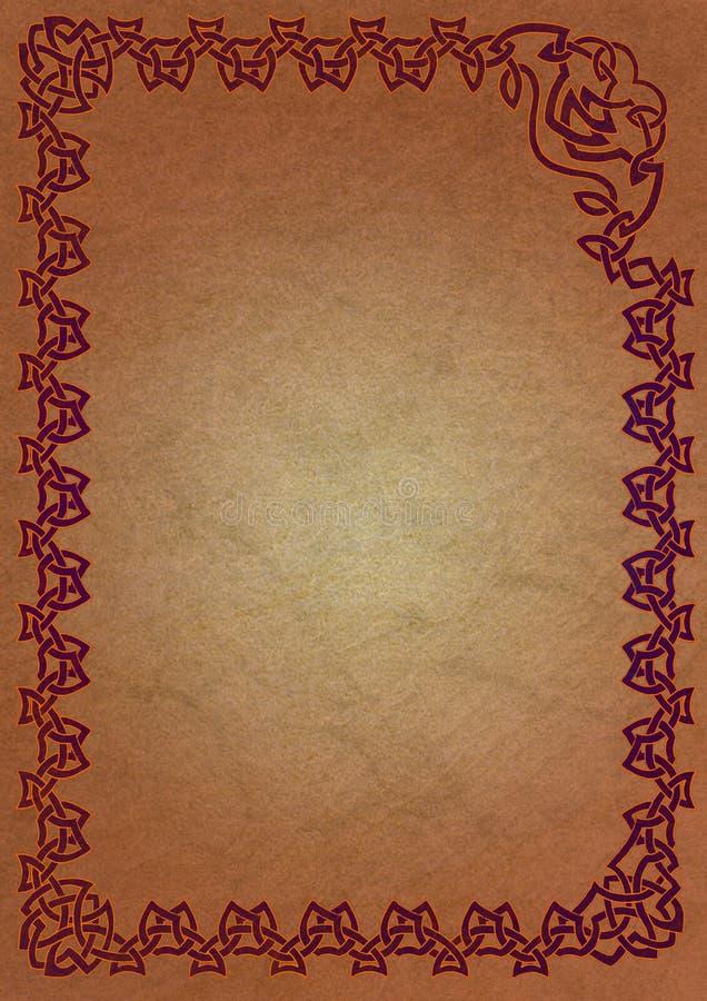 Keltisches Feld - Rot lizenzfreie abbildung
