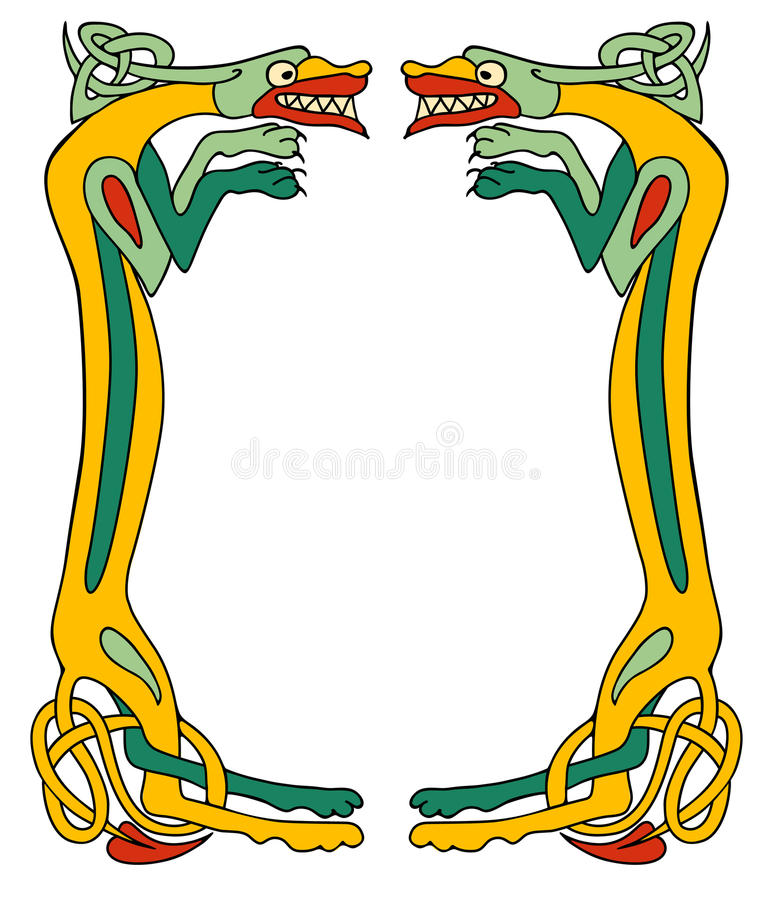 Keltisches Hundefeld stock abbildung