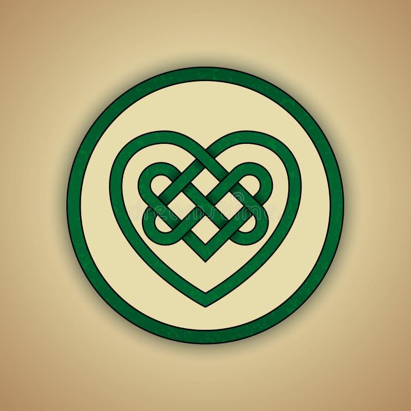Keltisches Knoten-Symbol der Liebe stock abbildung