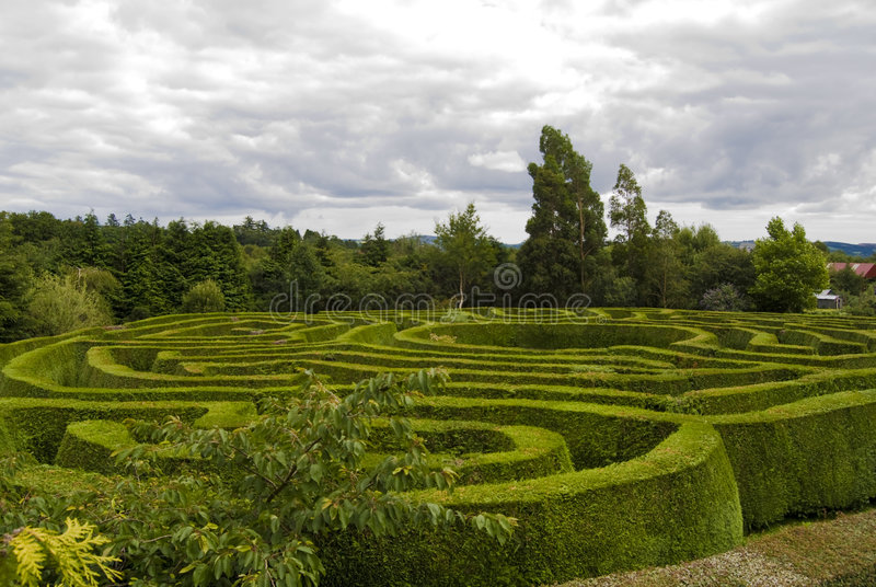 Keltisches Labyrinth in Wicklow, Irland. lizenzfreie stockfotos
