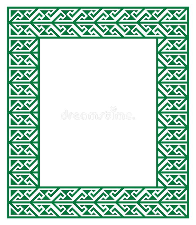 Keltisches Schlüsselmuster - grüner Rahmen, Grenze lizenzfreie abbildung