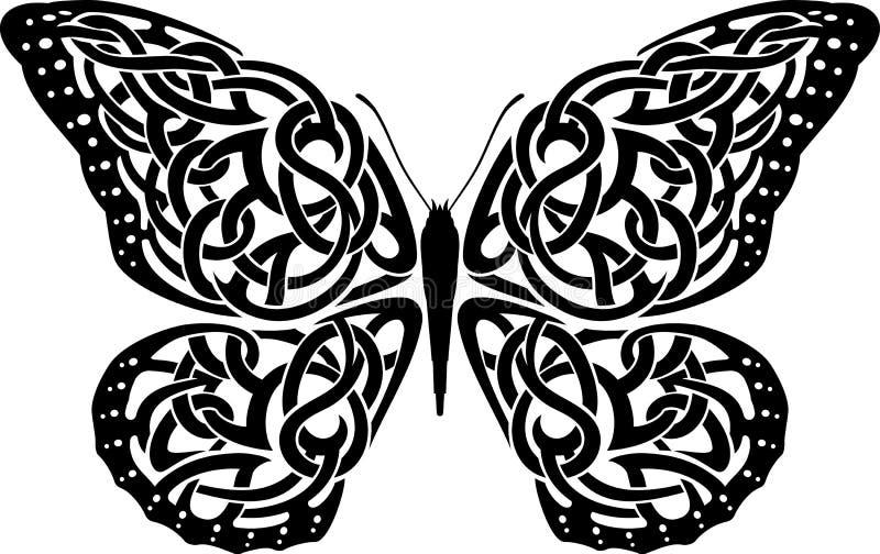 Keltisk fjäril vektor illustrationer